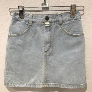 Vintage Guess Denim Blue Jean Skirt Size 6 Girl